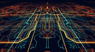电路板,网络服务器,未来,中央处理器,电脑芯片,计算机语言,编码,水平画幅,科学,计算机软件