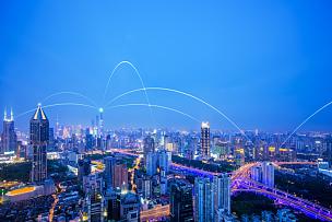 计算机网络,技术,上海,全球通讯,大数据,地球形,未来,计算机制图,上海环球金融中心,都市风景