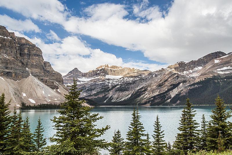 雪,山脉,云景,加拿大,洛矶山脉,水平画幅,山,阿尔伯塔省,摄影,拜访