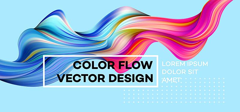 艺术,形状,绘画插图,现代,矢量,式样,蓝色,液体,波形