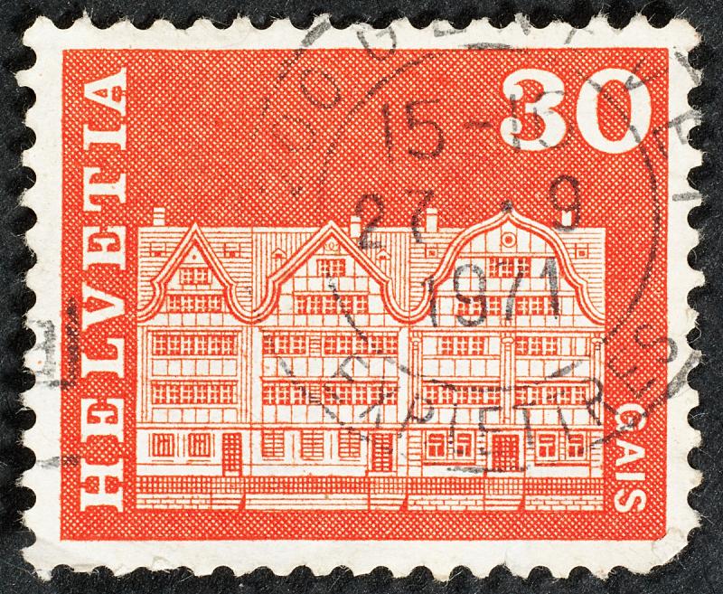 邮票,数字30,数字0,一个物体,背景分离,全球通讯,古董,古典式,影棚拍摄,瑞士