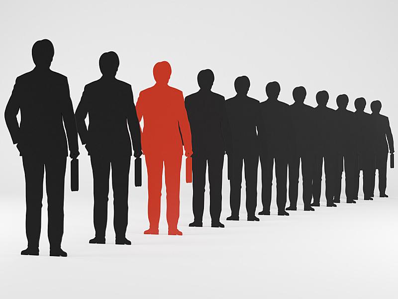 男商人,水平画幅,绘画插图,手,人,人群,套装,白人,黑色