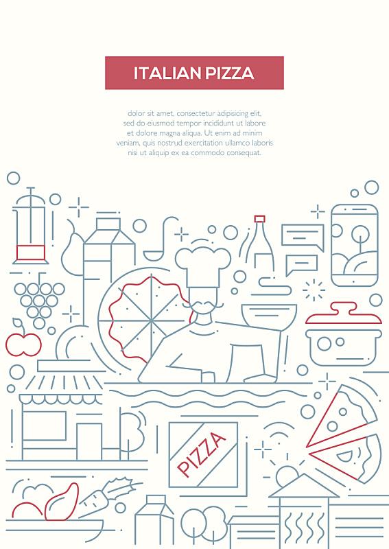 线条,模板,比萨饼,海报,小册子,麦克唐纳·道格拉斯f-4,披萨店,天鹰,菜单,部分