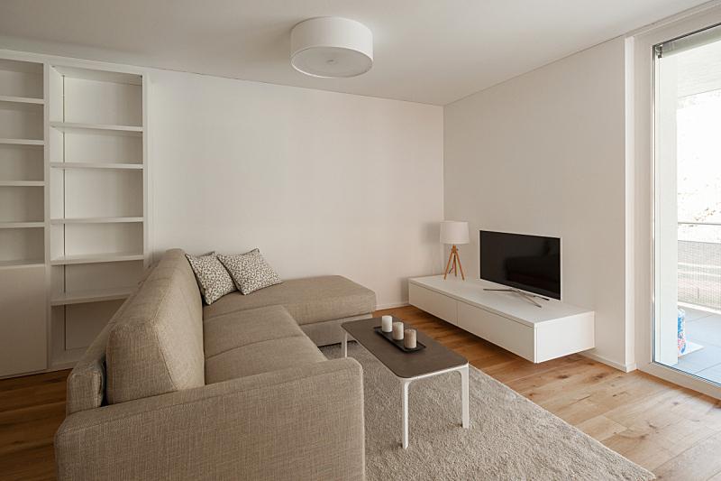 生活方式,极简构图,井,古老的,留白,水平画幅,无人,灯具,家具,现代