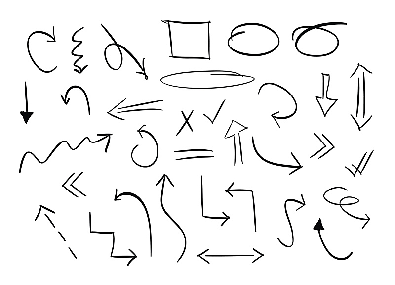箭头符号,矢量,动物手,形状,绘画插图,符号,墨水,计算机制图,计算机图形学,画笔