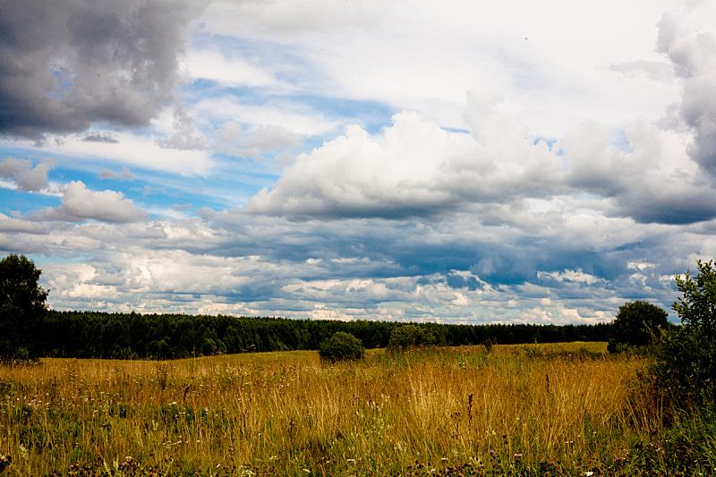自然,天空,褐色,水平画幅,绿色,小的,无人,夏天,户外,陆地