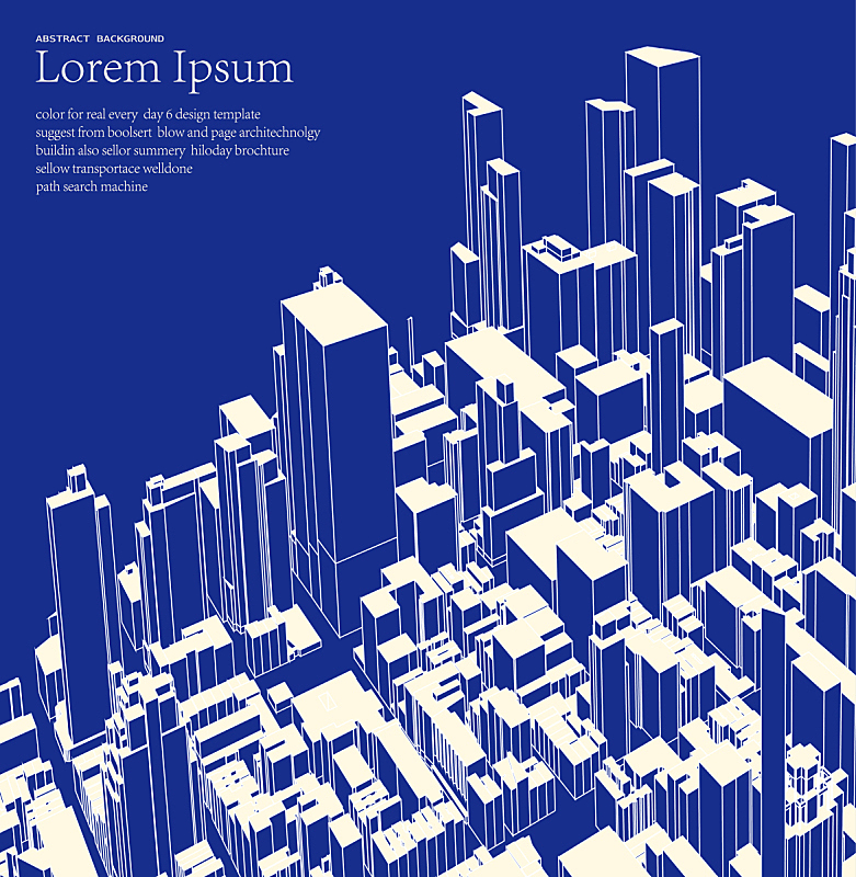 城市,极简构图,建筑体,蓝色,商务,城市生活