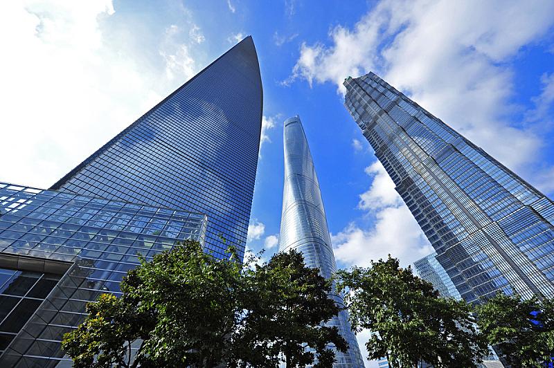 陆家嘴,上海环球金融中心,组物体,水平画幅,建筑,无人,上海,金融和经济,城市,经济