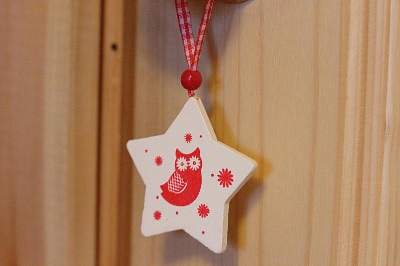 猫头鹰,玩具,平衡折角灯,星形,水平画幅,无人,鸟类,红色,圣诞装饰物