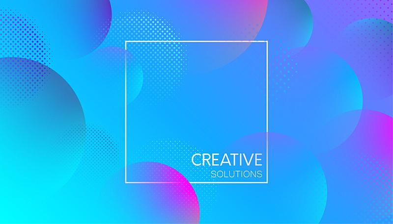 泡泡,式样,蓝色,创造力,背景,点连成线,球,边框,艺术,水平画幅