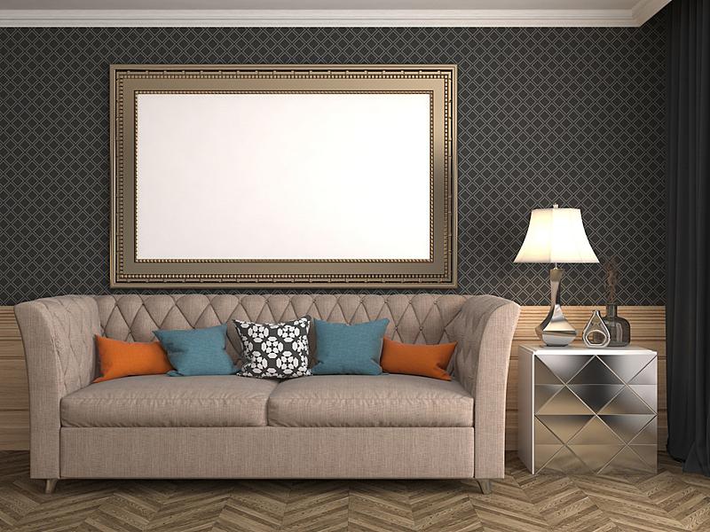 三维图形,轻蔑的,边框,背景聚焦,绘画插图,正下方视角,水平画幅,形状,墙