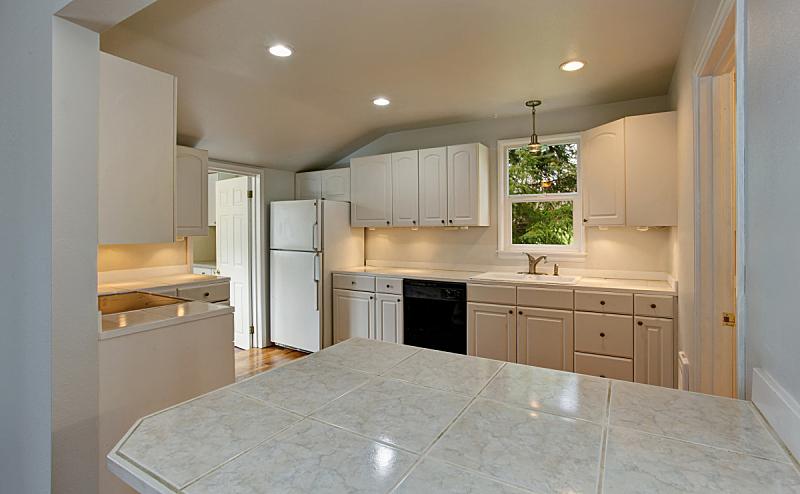 无人,室内,厨房,极简构图,过时的,白色,房屋,窗户,住宅房间,水平画幅