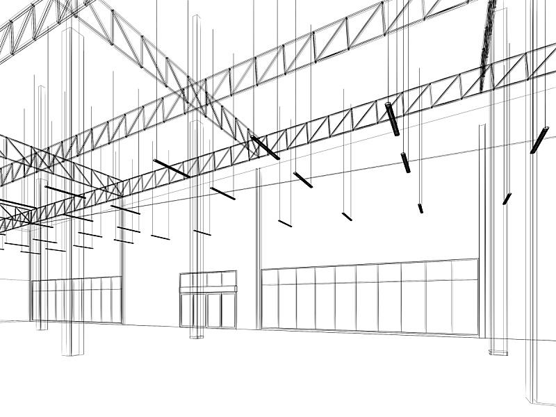 仓库,三维图形,室内,草图,新的,边框,水平画幅,绘画插图,家具,泰国