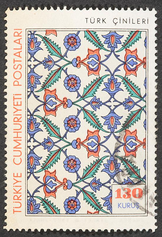 邮票,欧洲,长方形,土耳其,文档,垂直画幅,邮戳,图像,多色的,无人