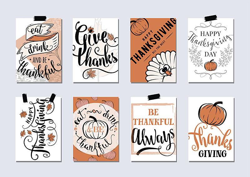 矢量,十月,火鸡,传单,南瓜,贺卡,请柬,设计元素,非西方字母,九月