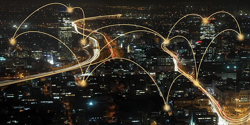 城市,技术,计算机,网线插头,现代,金融技术,云计算,网络安全防护,网络服务器,云