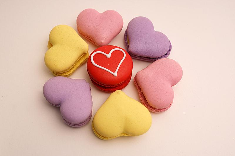情人节,蛋白杏仁饼,饮料,蛋糕,彩色背景,杯,食品,浪漫,糖果,甜点心