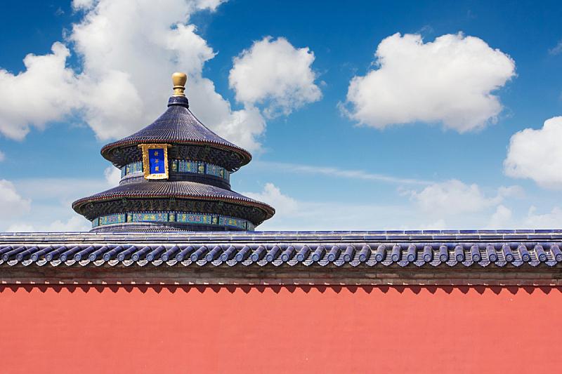 天坛,天空,水平画幅,墙,无人,云景,过去,楼梯,白色,国际著名景点