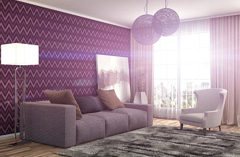 沙发,室内,绘画插图,三维图形,褐色,座位,水平画幅,无人,装饰物,家具