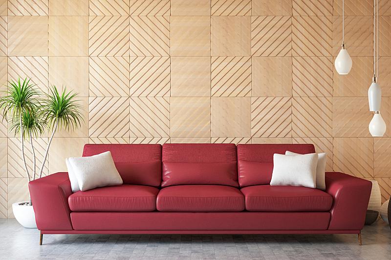 沙发,起居室,极简构图,华贵,舒服,地板,简单,现代,色彩鲜艳,涂料