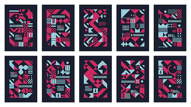 多色的,海报,80到89岁,几何形状,彩色图片,斯堪的纳维亚人,形状,设计元素,音乐,计算机图形学