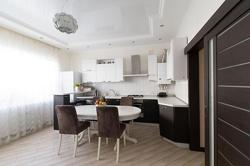 现代,门,室内,白色,彩色图片,褐色,厨房,米色,粗陶,纯净