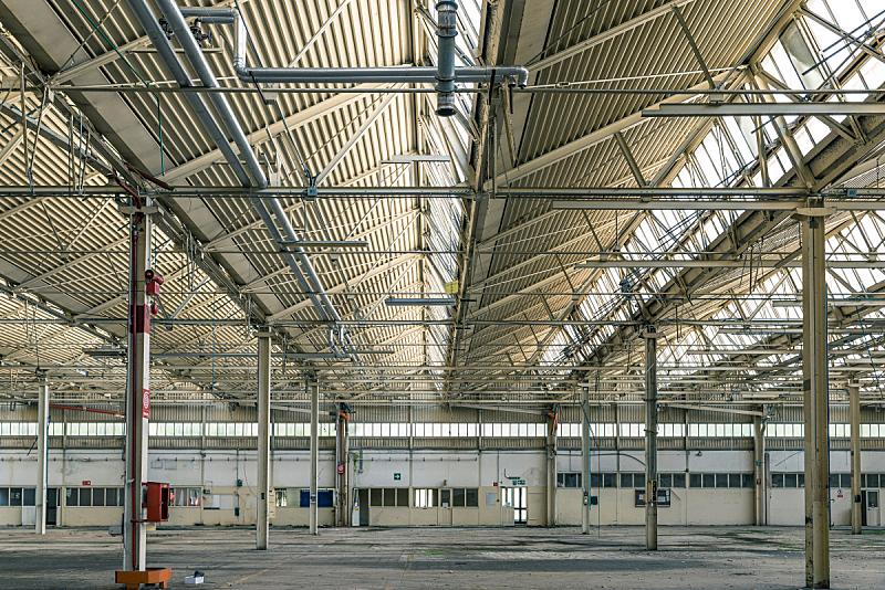 走廊,工厂,被抛弃的,工业