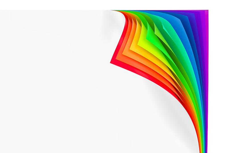 三维图形,彩虹,卷着的,角度,艺术,水平画幅,无人,绘画插图,书页,特写