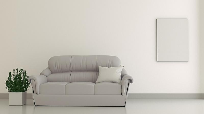 空的,边框,沙发,三维图形,室内,住宅房间,地板,现代,装饰物,住宅内部