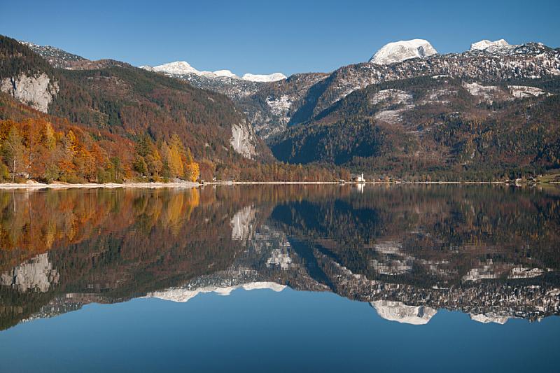 奥地利,山,阿尔卑斯山脉,全景,巴特奥赛,格伦德尔湖,奥塞耳州,施蒂利亚,萨尔茨卡默古特,偏振光