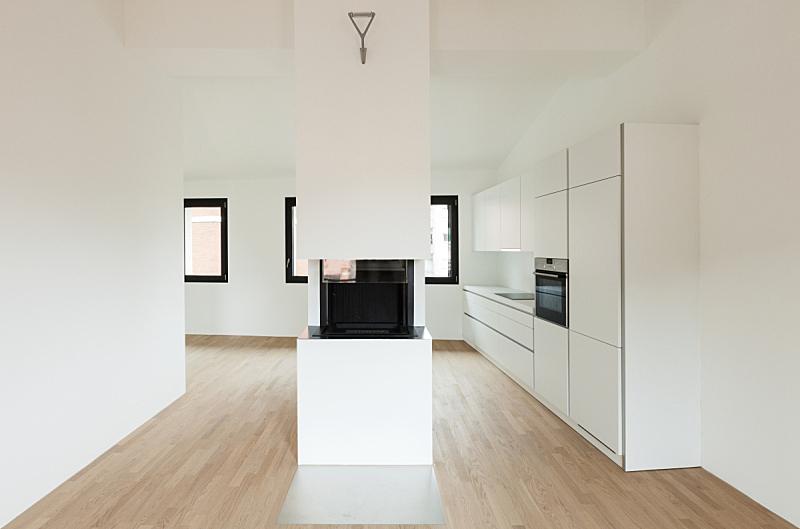 室内,留白,水平画幅,墙,无人,明亮,现代,开着的,白色,空的
