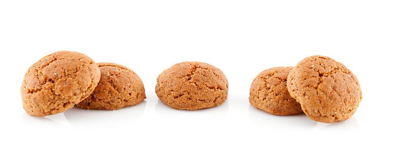 坚果,生姜,饼干,水平画幅,彩色图片,无人,全景,白色背景,胡椒坚果,摄影