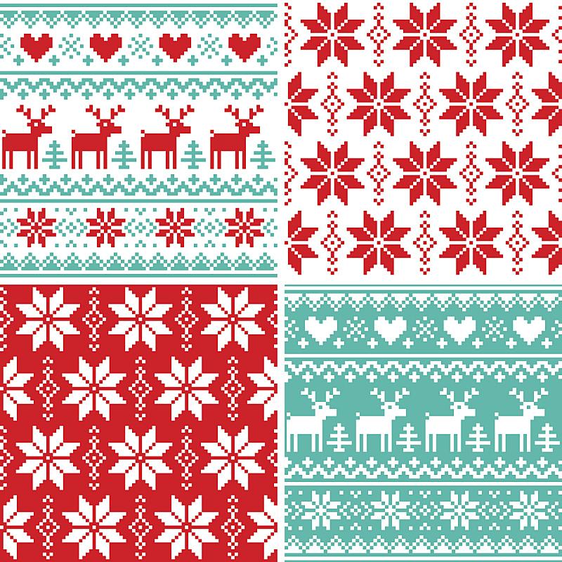 式样,圣诞节,冬天,时尚,丑陋,圣诞毛衫,红鼻子驯鹿,十字针脚,斯堪的纳维亚人,雪花