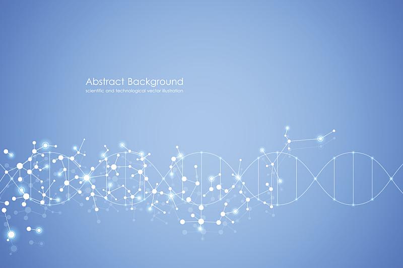 绘画插图,技术,矢量,分子,背景,科学,分子结构,抽象,健康保健,脱氧核糖核酸