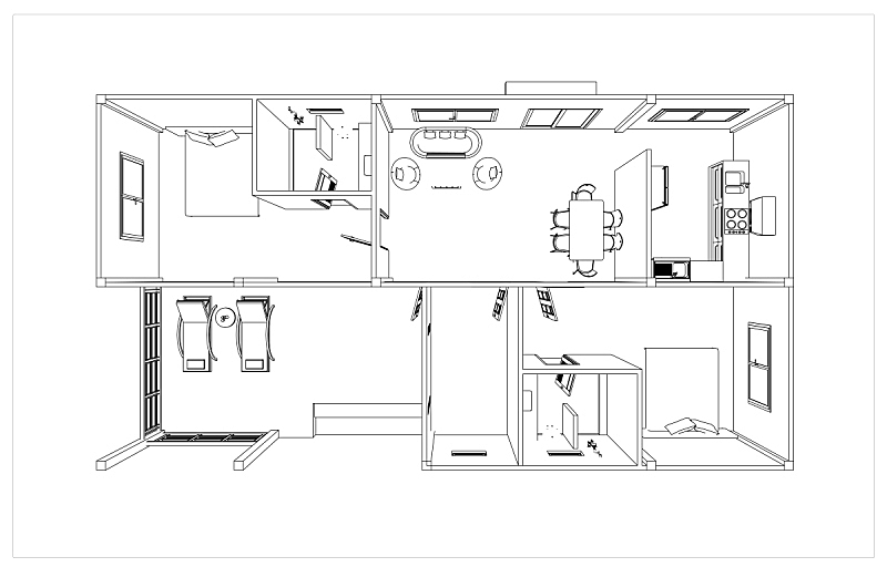 房屋,计划书,素描餐厅,用栅木板阻断,公共厕所,浴室,绘画插图,家具,文档,居住区