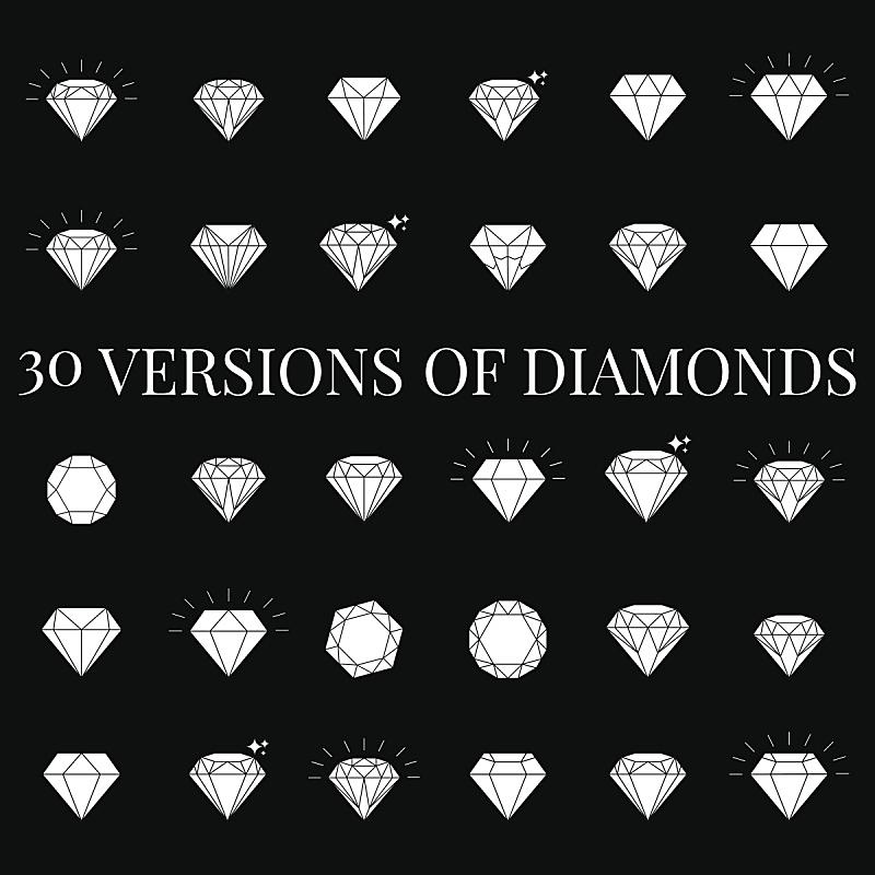 钻石形,计算机图标,结构关节突关节,钻石,赛特种猎狗,苏打,背景分离,华贵,浪漫,复古风格
