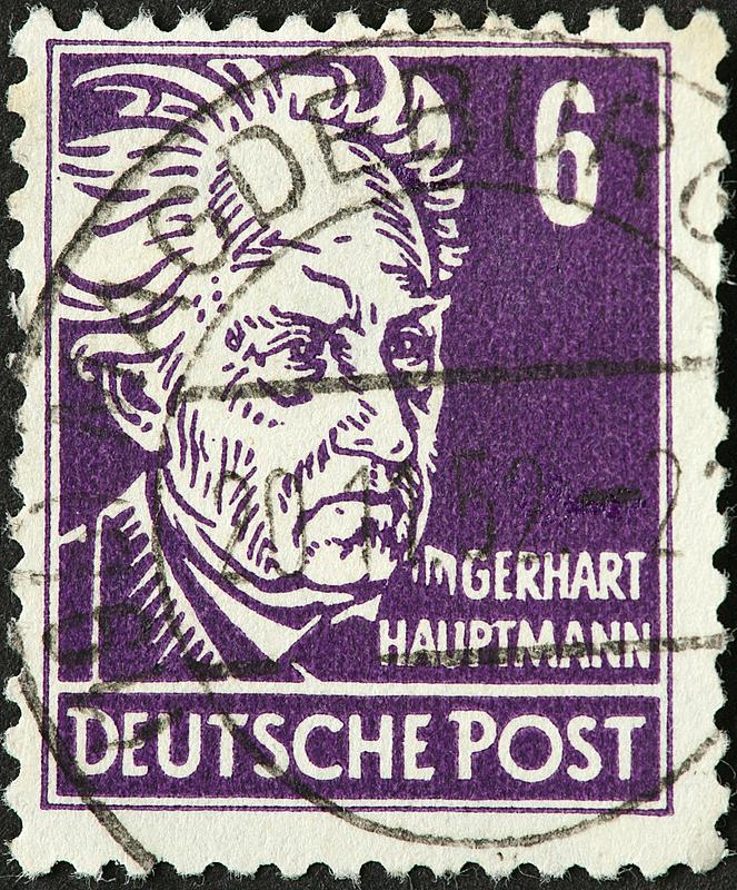 豪普特曼,垂直画幅,古典式,人,作家,德国,摄影