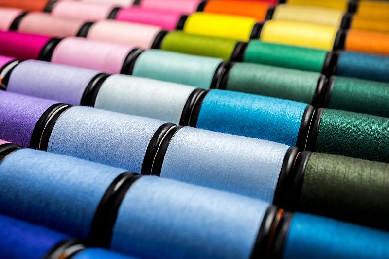 特写,线,水平画幅,纺织品,纤维,组物体,棉,泰国,裁缝,机器
