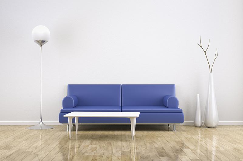 住宅房间,沙发,留白,褐色,桌子,水平画幅,建筑,木制,无人,蓝色