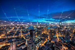 上海,都市风光,大数据,金茂大厦,计算机网络,上海环球金融中心,全球通讯,黄浦江,云景,外滩