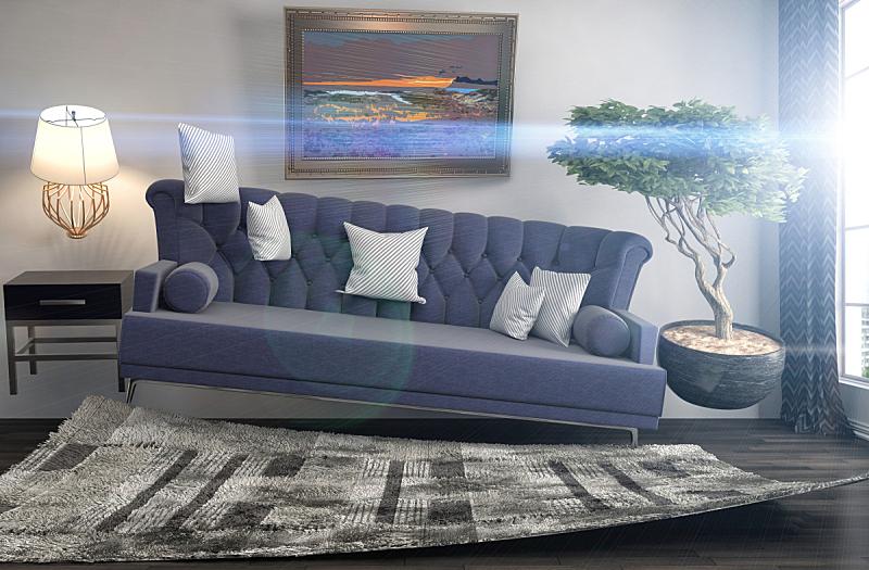 沙发,绘画插图,三维图形,起居室,地震,数字0,水平画幅,无人,家具,俄罗斯