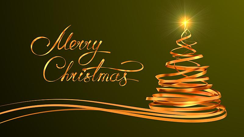 圣诞树,式样,文字,黄金,混沌,贺卡,新的,水平画幅,银色