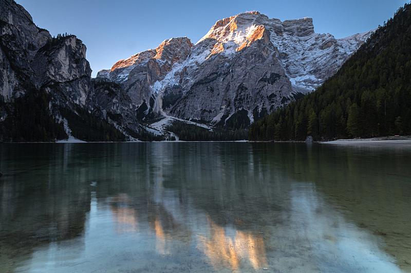 湖,上阿迪杰,普斯特山谷,高山辉,多洛米蒂山脉,水平画幅,无人,户外,徒步旅行,自然界