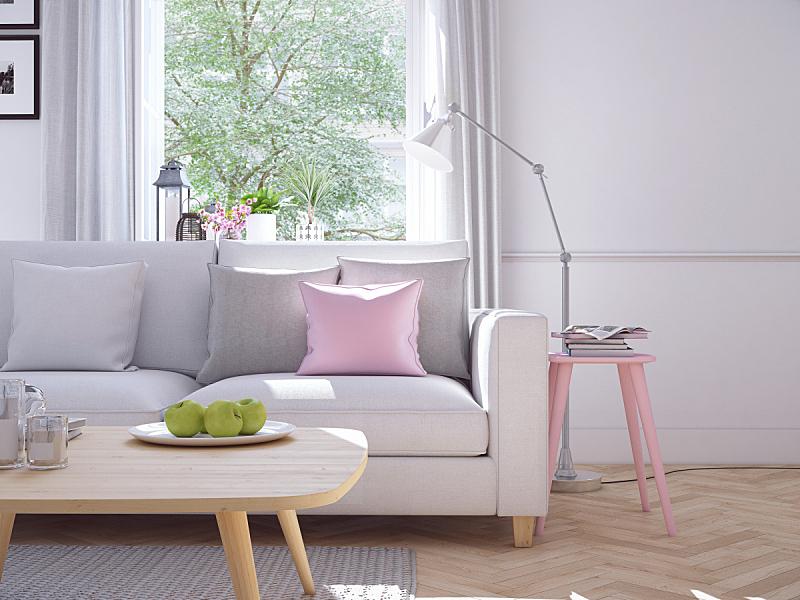 起居室,现代,三维图形,联排别墅,地毯,软垫,水平画幅,纺织品,无人,家具