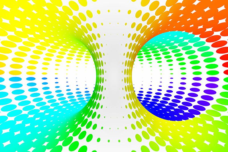 错觉,彩虹,抽象,螺线,隧道,三维图形,斑点,条纹,点染,缠绕