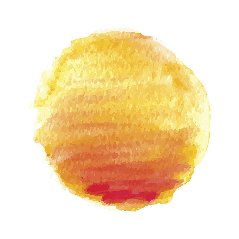 日光,绘画插图,矢量,水彩画,太阳,纹理效果,热,水彩画颜料,背景分离,橙子
