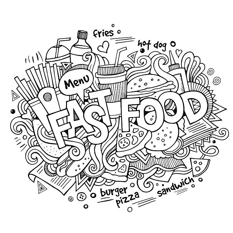 背景,乱画,化学元素周期表,文字,动物手,快餐,格子烤肉,贺卡,绘画插图,奶昔