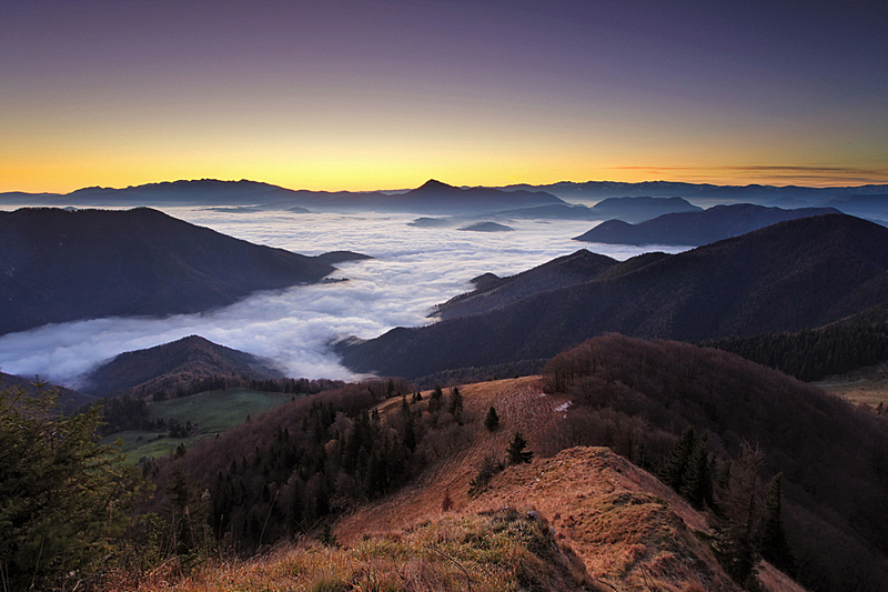 山,斯洛伐克,全景,修改系列,黎明,天空,美,水平画幅,无人,夏天