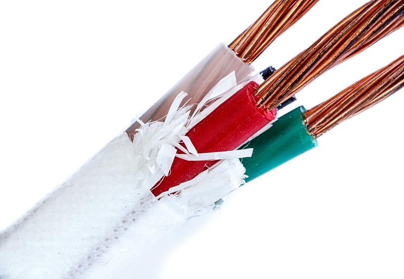 铜,电缆,金属丝,空的,电力线,电,绝缘体,双胞胎,褐色,建筑承包商