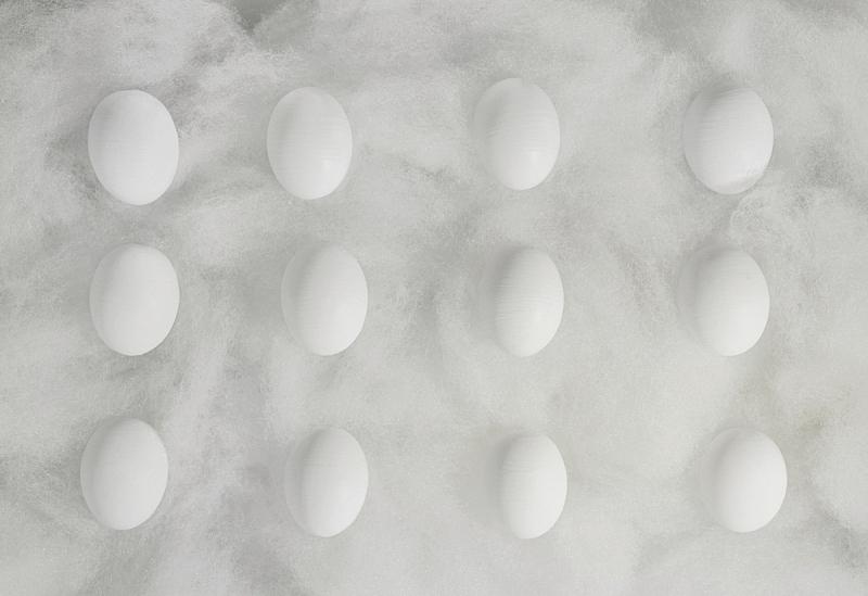 丝绸,线,成一排,蛋,白色,复活节,椭圆形,煮食,水平画幅,形状